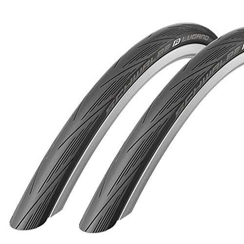 Schwalbe Lugano 700c x 25 Road Racing Bike Tyres (with Puncture Protection)...