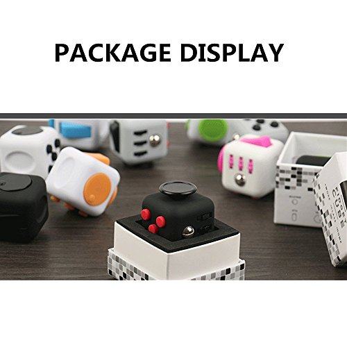 Coopei Fidget toys Cube for Fidgeters! Stress Relief Anxiety Attention Desk Toy for Adult and Children (8#) -