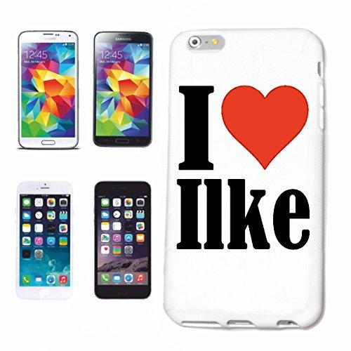 """Handyhülle iPhone 4 / 4S """"I Love Ilke"""" Hardcase Schutzhülle Handycover Smart Cover für Apple iPhone … in Weiß … Schlank und schön, das ist unser HardCase. Das Case wird mit einem Klick auf deinem Smar"""