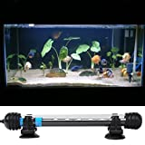 Weksi®Led Aquarium Lighting Fish Tank Accessories 29cm 12 LED 3W 5050 SMD White Light Bar Underwater Submersible Waterproof Clip Lamp US plug+3pcs Free Aquarium Jellyfish(Green Blue Pink)