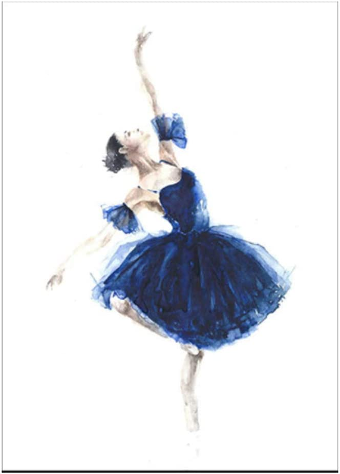 Cuadro de bailarina azul