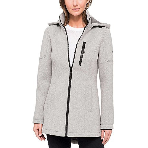 Andrew Marc Ladies' Knit Jacket (Light Grey Charcoal, XX-Large)