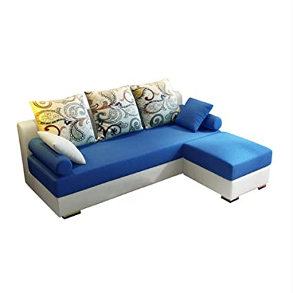 Amazon.com: XIAOSUNSUN Simple Modern Fabric Sofa Combination ...