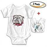 POOPEDD Cruel Bulldog Unisex Baby Short Sleeve Onesies Romper Bodysuit Outfits