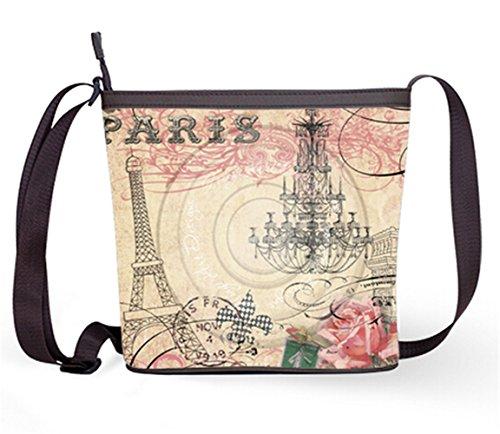 Shoulder Sling Eiffel Tower Casual Fashion Bag Bag Popular Bag Print and Crossbody Female Bag with Eiffel09 Sling f886q