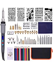 79PCS Wood Burning Tool Kit Professional Pyrography Pen Soldering Iron Set Adjustable Temperature from 200-450℃ with LED Display for Beginners Adults Wood Burning Carving Embossing Soldering