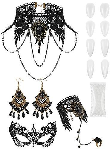 Gothic Lace Vampire Costume - 6