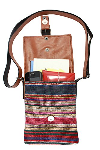 Handbag Purse Mini Stripe Homespun 017 Woven Shoulder BDJ OUS Crossbody BUA 4qTSWn