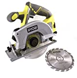 Ryobi P506 One+ Lithium Ion 18V 5 1/2 Inch 4,700 RPM Cordless Circular Saw with Laser Guide and Carbide-Tipped Blade...
