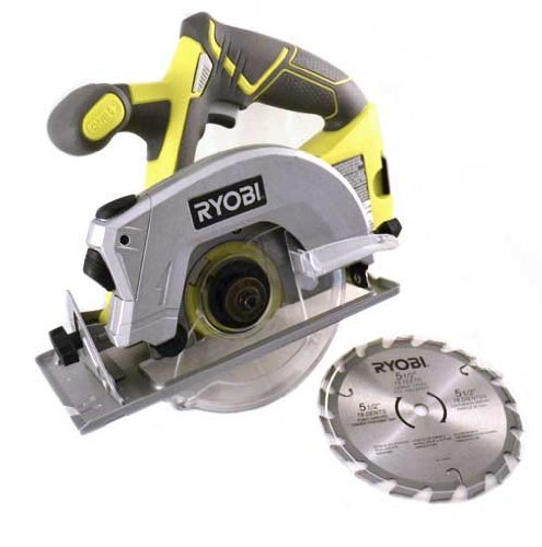 Ryobi P506 One+ Lithium Ion 18V 5 1/2 Inch 4,700 RPM Cordless Circular Saw with Laser Guide and Carbide-Tipped Blade (Battery Not Included, Power Tool Only) green full - Saw Laser Blade