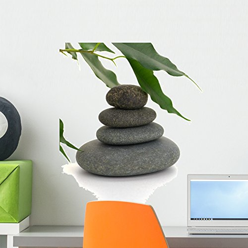 Serene Picture with Pebbles Wall Decal by Wallmonkeys Peel and Stick Graphic (18 in W x 12 in H) WM174355 (Feng Shui Spa)