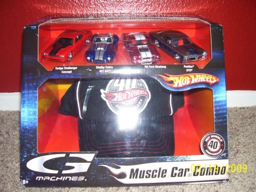 Hot Wheels G Machines Muscle Car Combo 40th Anniversary