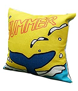 Pillowcases Summer whale tail 18x18(inches)