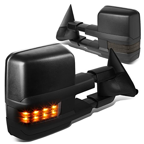 DNA MOTORING TWM-031-T888-BK-SM Powered Towing Mirror LED Smoked (88-02 Chevy GMC C/K)