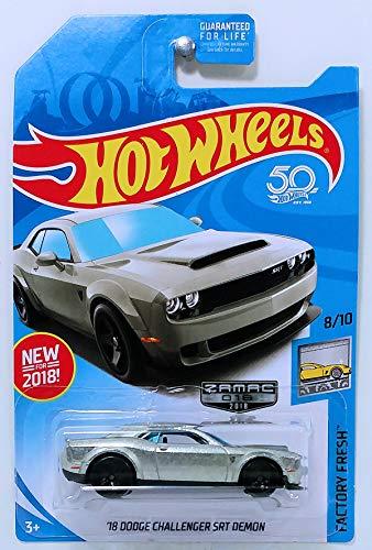 (Hot Wheels 2018 Walmart Exclusive Factory Fresh 8/10 - '18 Dodge Challenger SRT Demon)