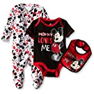 Disney Baby Mickey Mouse 3 Piece Layette Set, Mickey Black, 0-3 Months