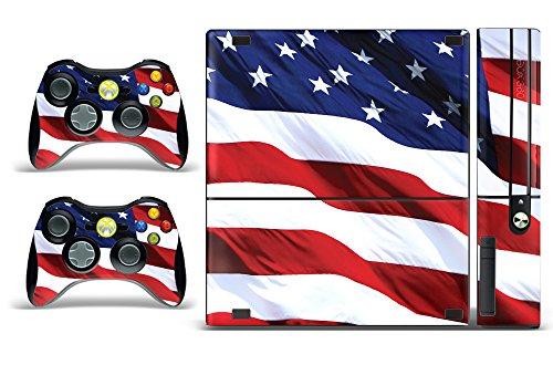 Designer Skin Sticker Fits:Microsoft Xbox 360 (360E) (3rd Gen) - Stars and Stripes ()