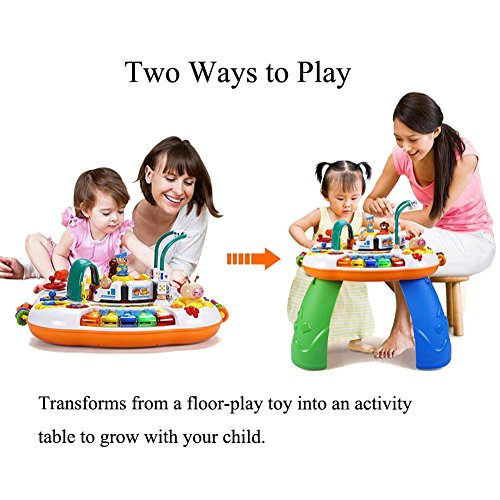 Sytle-Carry Learning Activity Table Toddler Toys - Music Activity Center Game Table Baby Toys 6 to 12 Months Sit to Stand Play Table Toys for 1 2 3 Years Old Boys Girls Birthday Gifts by Sytle-Carry (Image #3)