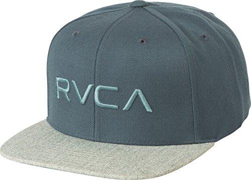 RVCA Men's Twill Snapback Hat, Slate, EA - Snapback Wool