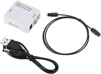 gessing - Convertidores de Audio coaxial óptico Digital a analógico RCA L/R para TV: Amazon.es: Hogar