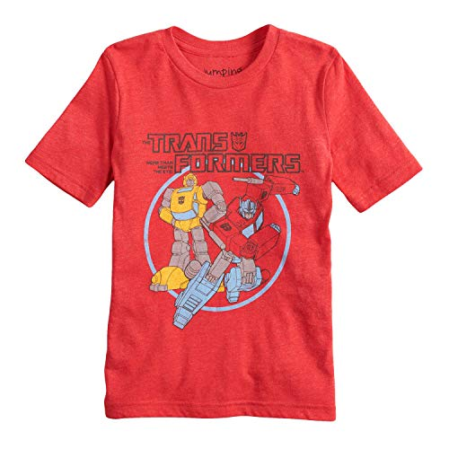 Jumping Beans Boys 4-10 Transformers Optimus Prime & Bumblebee Graphic Tee 6 Red Heather