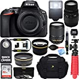 Nikon D5600 24.2MP DX-Format DSLR Camera + AF-S 18-140mm ED VR & Sigma 70-300mm Macro Telephoto Lens + Accessory Bundle For Sale
