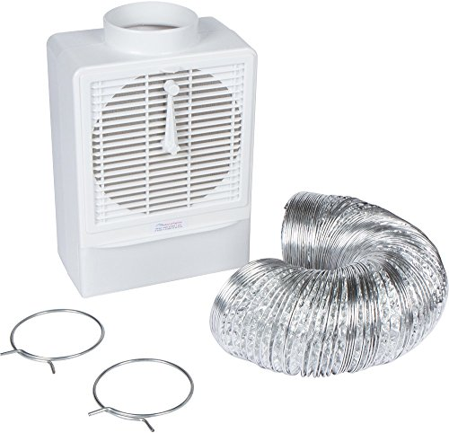 8' Pvc Duct - Indoor Lint Trap Filter - Indoor Dryer Vent Kit with 8' Hose & Clamps for Electric Dryers