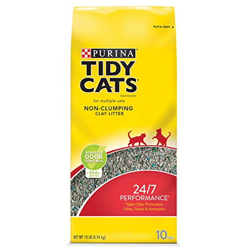Purina Tidy Cats Non Clumping Cat Litter; 24/7 Performance Multi Cat Litter - 10 lb. Bag (4 Pack)