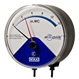 WIKA 50556738 Differential Low Pressure Gauge,  Wetted Parts, 4-1/2