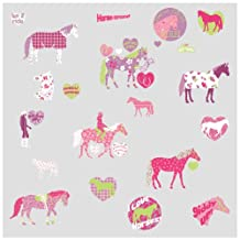RoomMates RMK1663SCS Horse Crazy Peel and Stick Wall Decals