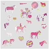 RoomMates RMK1663SCS Horse Crazy Peel & Stick Wall Decals