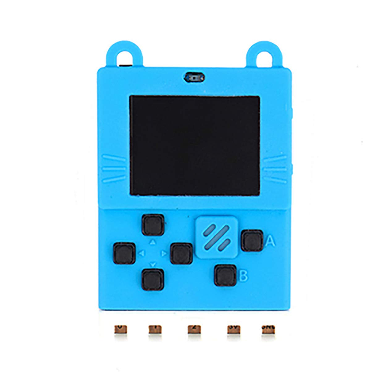 seeed studio Kittenbot Meowbit Card-Sized Retro Game Computer Codable Console for Microsoft Makecode Arcade and Python Video Game Console Compatible Micro:bit Expansion Board for Making Robot-Blue