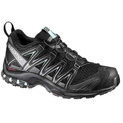 SALOMON Women's XA Pro 3D Trail Running Shoe, Black/Magnet/Fair Aqua, 6 US/UK 4.5