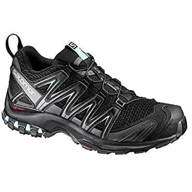 SALOMON Women's XA Pro 3D Trail Running Shoe, Black/Magnet/Fair Aqua, 6 US/UK 4.5