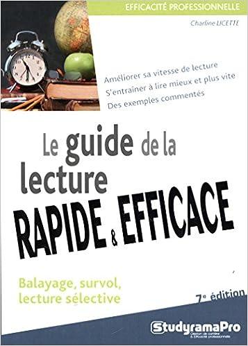 Livre Le guide de la lecture rapide et efficace pdf