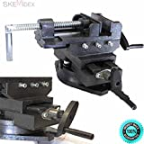 SKEMiDEX---New HD 4'' Swivel 360 Deg Drill Press Vise Bench X Y Clamp Cross Slide Milling Features Provides Quick And Precise Positioning Along The X And Y Axis, Giving Drill Press Movements