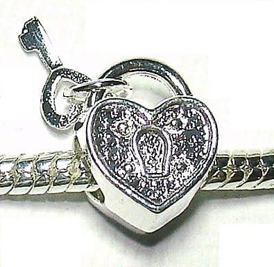 charm pandora cuore con chiave