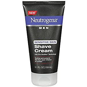 Neutrogena Men's Shaving Cream For Sensitive Skin, Pro-Soothe Technology to Protect Against Razor Bumps & Ingrown Hairs, 5.1 fl. oz