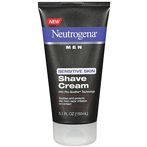 Price comparison product image Neutrogena Men's Shaving Cream For Sensitive Skin, Pro-Soothe Technology to Protect Against Razor Bumps & Ingrown Hairs, 5.1 fl. oz (Pack of 2)