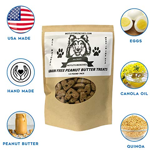 Motleys Munchies All Natural Dog Treats Dog Treats Grain Free Dog Treats Peanut Butter Dog Biscuits