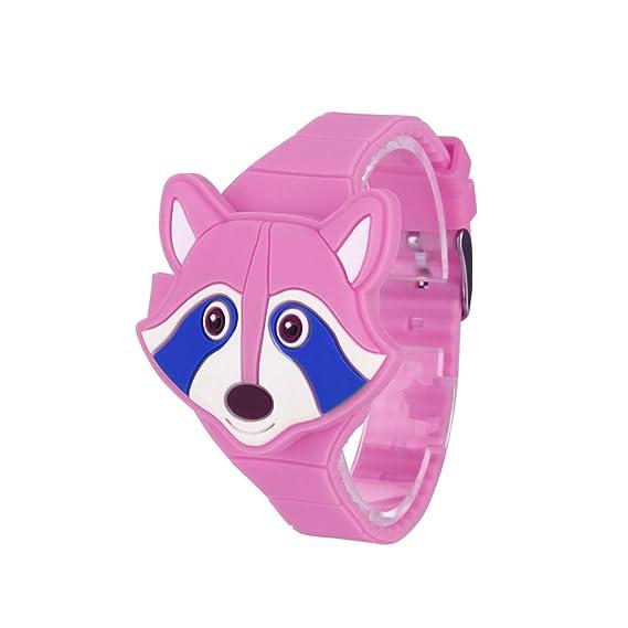 Reloj Infantils ,Reloj Infantil Digital Electrónico Nino Niña de Silicona de Moda Dibujos Animados Animal