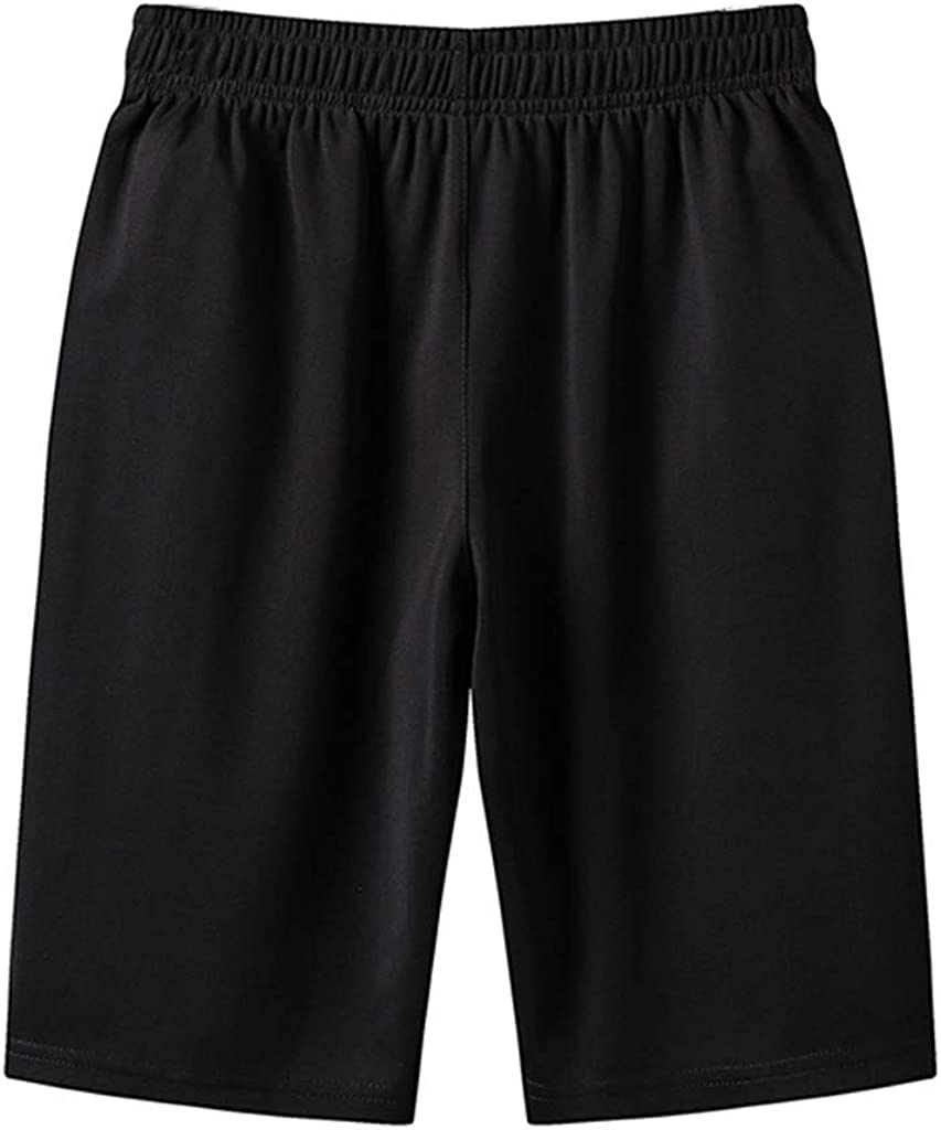 aihihe Mens Shorts Athletic with Pockets Casual Elastic Waist Big and Tall Shorts L-6Xl