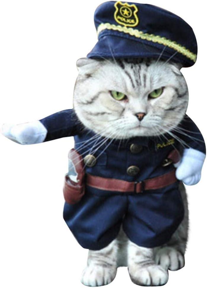 Chinesischer Kaiser Western Cowboy Hut Seemann Lustiges Haustierkost/üm f/ür Hunde und Katzen Krankenschwester Haustier Kleidung Cosplay inkl Piraten