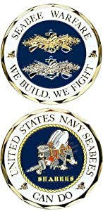 United States Seabee Warfare Challenge Coin by Navy Challenge Coins by Navy Challenge Coins