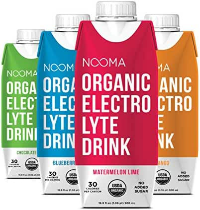NOOMA Organic Electrolyte Sports Drink | Naturally Hydrating, Coconut Water Base | Certified Keto, Vegan, Gluten Free & More | No Added Sugar, 30 Calorie | Variety Pack 16oz (Pack Of 12)