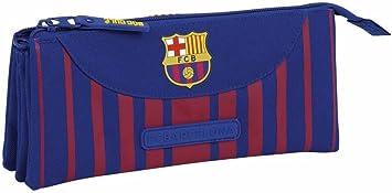 Safta Estuche Escolar F.C. Barcelona 17/18 Oficial 220x30x100mm: Amazon.es: Juguetes y juegos
