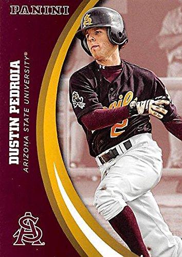 Dustin Pedroia baseball card (Arizona State Sun Devils) 2015 Panini ... aedb0493d92