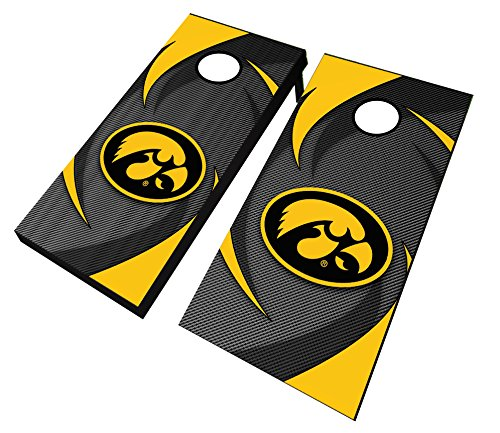 NCAA Iowa Hawkeyes Swoosh Cornhole Set with Bags, 24