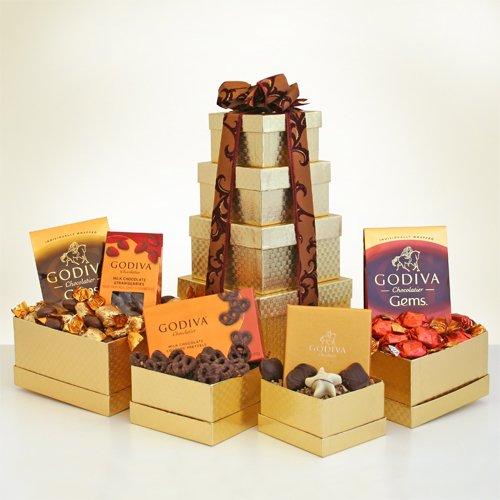 Golden Godiva Gourmet Chocolate Gift Tower - Great Idea for the Holiday Season (Godiva Corporate)