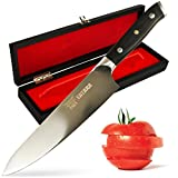 Tatara Chef Knife 8 inch - Professional High Carbon Stainless Steel Blade with Gift Case